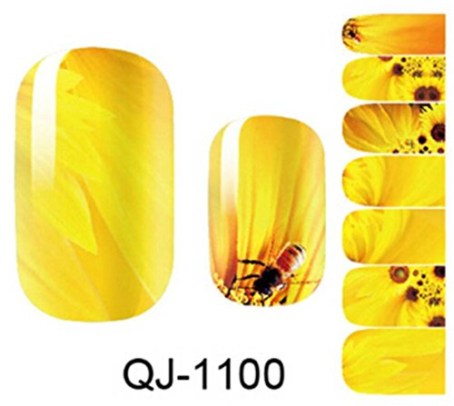 8 Pcs Water Transfer Sheet Nail Art Sticker Decal Beauty Tips Decoration - 2