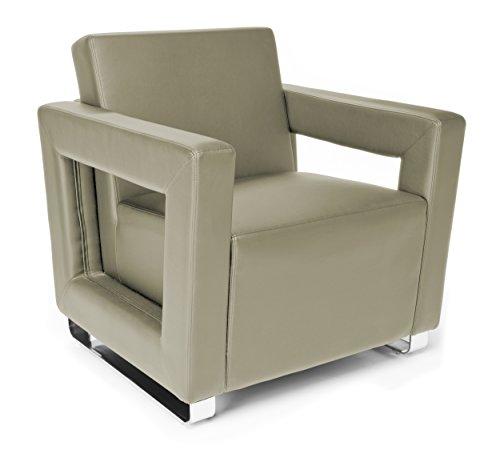 OFM Distinct Series Vinyl Guest / Reception Chair, Taupe