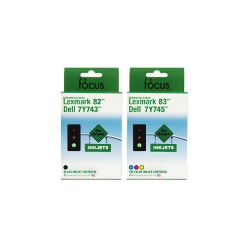 Generic 2 Pack Lexmark 82/83 (18L0860) Remanufactured Inkjet/Ink Cartridges Combo (One each: Black 18L0032, Color 18L0042) by Generic