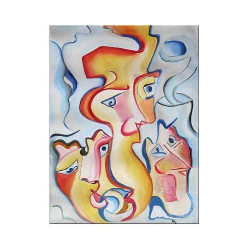 Pintura Original Lienzo Al Oleo Arte Abstracto Moderno Deseos Locos