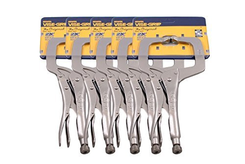 Irwin Viseグリップ11r 11 CクランプロックRegular Tip簡単リリースペンチ( 5パック) by AmericanツールExchange B01IU763AK