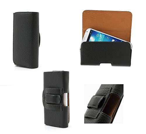 DFV mobile - Case Belt Clip Synthetic Leather Horizontal Premium for =>      APPLE IPHONE 5 / 5S > Black