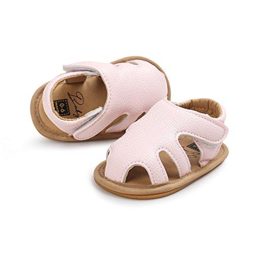 Sandals Walker (Cheeru BABY Girls Shoes Non-Slip Toddler Summer Sandal for Baby First Walker (12cm(6-12months), Pink))