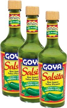 Goya Salsita Jalapeño Chiles 8 oz Pack of 3 (Jalapeno Chile)