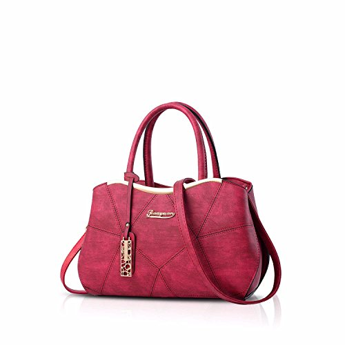 Gxinyanlong borsa da donna in pelle PU borsa da donna borsa Lady Evening Bags, Nero Red