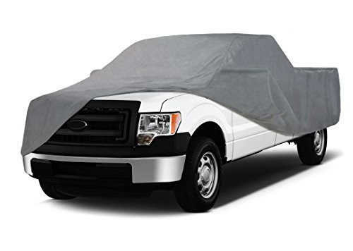 Coverking UVCTFLSI98 Universal Fit Cover for Full Size Truck with Long Bed Standard Cab - Triguard Light Weather Outdoor (Gray) by Coverking