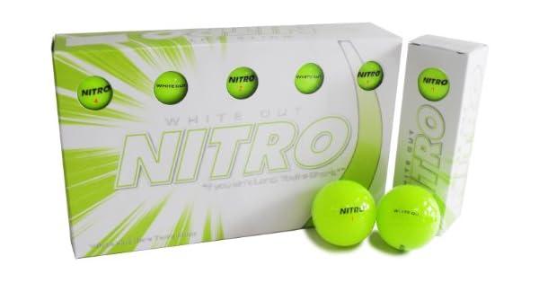 Amazon.com: Pelotas de golf Nitro White Out: Sports & Outdoors