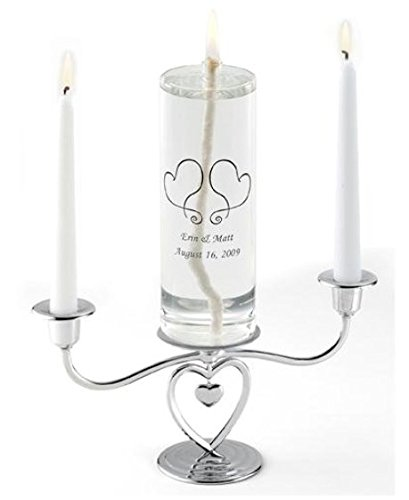 SKB family Claddagh Eternity Unity Candle and Heart Stand Set home decor
