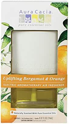 Aura Cacia Uplifting Electric Aromatherapy Air Freshener, Bergamot and Orange, 0.47 Ounce