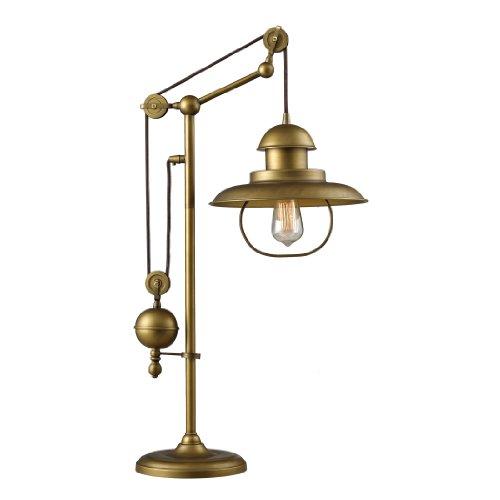 Elk Lighting Floor Lamp - Dimond 65100-1 Farmhouse Table Lamp, Antique Brass