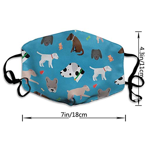 CIGOCI Anti-Dust Adjustable Elastic Strap Face Mask for Women Men Kids, Cute Dog and Dog Face Reusable Half Face Mouth Mask for Pollen Smog, Dental, Running - Anti Pollution