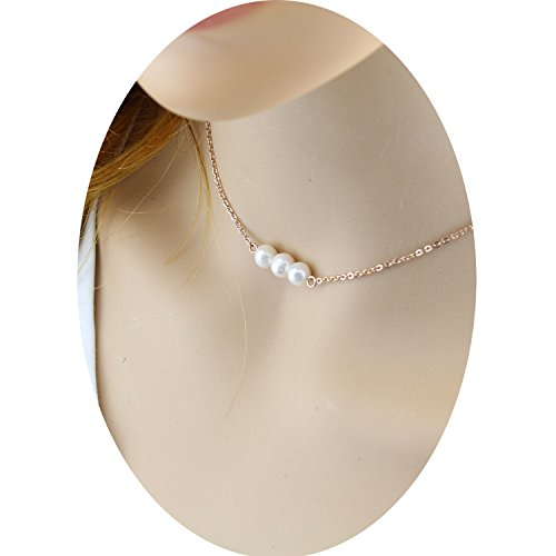 Pearl 3 String Necklace - 4