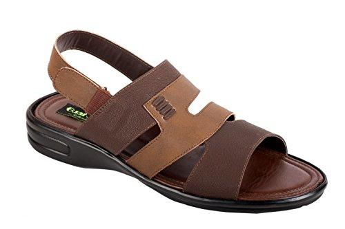 753cadf8b1684d La Guardian Faux Leather Brown Sandals