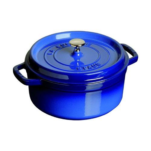 Staub 6.25 Quart Round Cocotte, Royal Blue