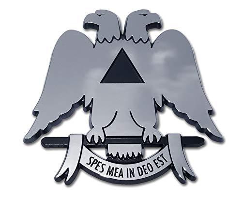 (Scottish Rite Double-Headed Eagle Chrome Auto Emblem)