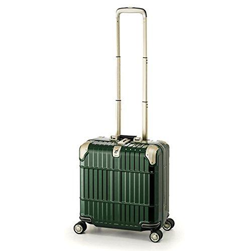スーツケース 国内線機内持込可 | A.L.I (アジアラゲージ) departure (ディパーチャー) HD-509-16 フレーム B06Y55DP2D シャイニンググリーン