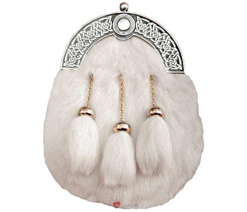 Dress Sporran White Rabbit Skin
