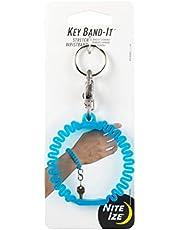 Nite Ize KWB-03-R6 Key Band-It, Stretch Wristband Key Chain With S-Biner Clip, Blue