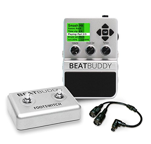 Singular Sound BeatBuddy Guitar Pedal Drum Machine + Footswitch + MIDI breakout cable BUNDLE by Singular Sound