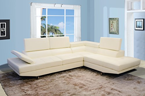 Torino Right Hand Facing Sectional Off White