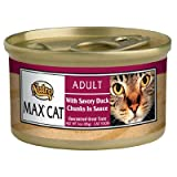 nutro max canned cat food - Nutro 50435300 24ea/3oz Max Savory Duck Chunks in Sauce Can Cat food, One Size