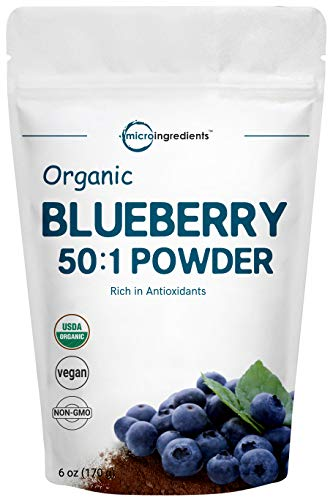 Sustainably Canada Grown, Organic Blueberry Extract 50:1 Concentrate Powder, 6 Ounce, Natural Flavor for Beverage, Smoothie, Baking and Cookies, No GMOs and Vegan Friendly (Best E Juice Canada)