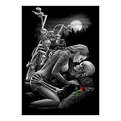 Vosarea DIY Diamond Painting Halloween Decoration Indoor Skeleton Skull Cross Stitch Embroidery Painting Home Decor Ornaments -