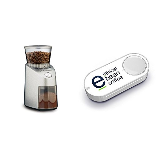 Capresso 565.05 Infinity Conical Burr Grinder, Stainless Steel & Ethical Bean Coffee Dash Button by Capresso