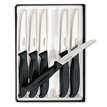 Amazon.com: Victorinox 48792 Cubiertos Cuchillo de carne (6 ...