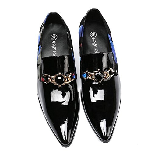 Hommes Chaussures cuir verni Mocassins lOuest et Slip-On pointu robe formelle daffaires mariage Coloré Taille 38 à 45