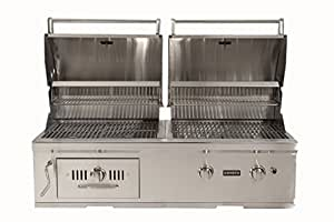 Coyote ch50ng hybrid grill 50 inch garden for Coyote hybrid grill