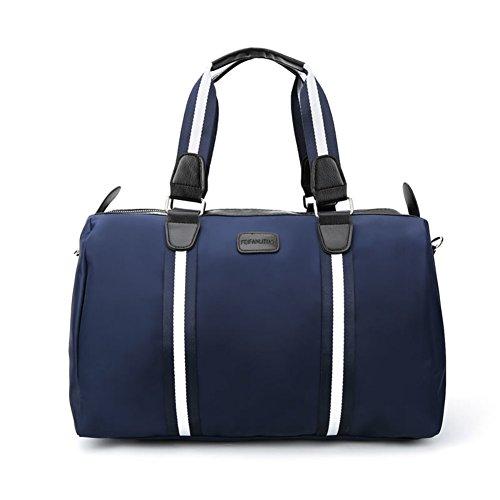 Bolso de los hombres/viaje de negocios bolsa de equipaje corto/sola bandolera/bolsa de viaje/bolso plegable del equipaje-púrpura azul marino