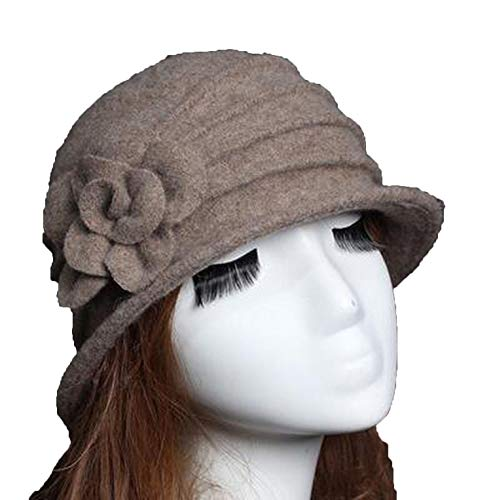 New 100% Wool Hat Autumn Winter Middle-Aged Female Soft Hat European Tide Dome Felted Mummy Thought Hat (Hats Felted Knitting)