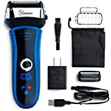 Hatteker Men's Electric Shaver Foil Shaver Wet Dry Electric Razor Rechargeable with Pop Up Precision Trimmer Replacenment Blade Cordless
