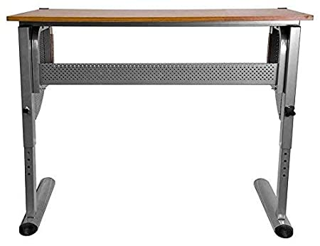 Flash Furniture Adjustable Drawing and Drafting Table with Pewter Frame