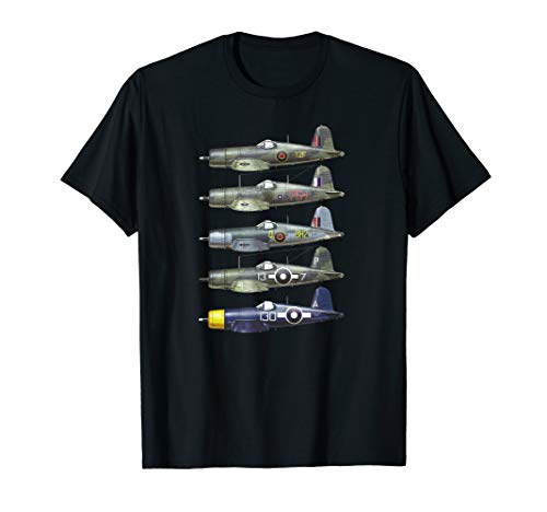 Vought F4U Corsair World War II vintage plane T-shirt