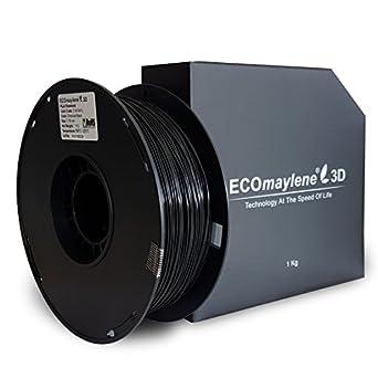 Carbón negro - ecomaylene3d Pla filamento 3d impresora, 1 kg ...