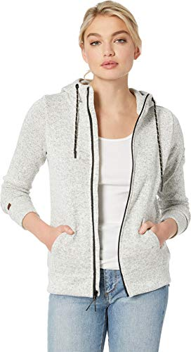 Billabong Women's Boundary Zip-Up Fleece Top Grey Heather Small ()