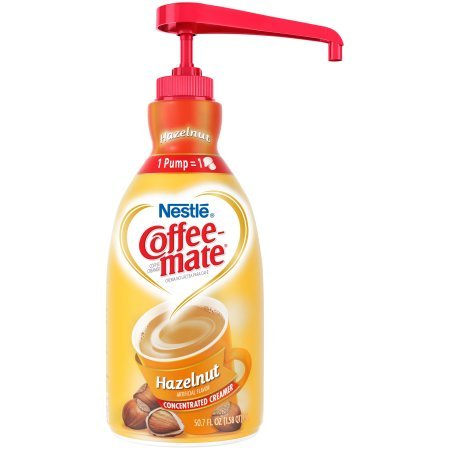 Liquid Coffee Creamer,Pump,Hazelnut (Pack of 10)