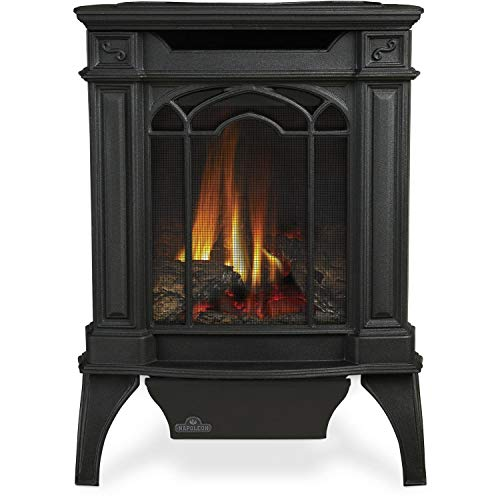 Napoleon GVFS20N Fireplace, Arlington Natural Gas Stove Vent Free 18,000 BTU - Painted Black (Stove Top NOT - Stove Vent Gas Rear