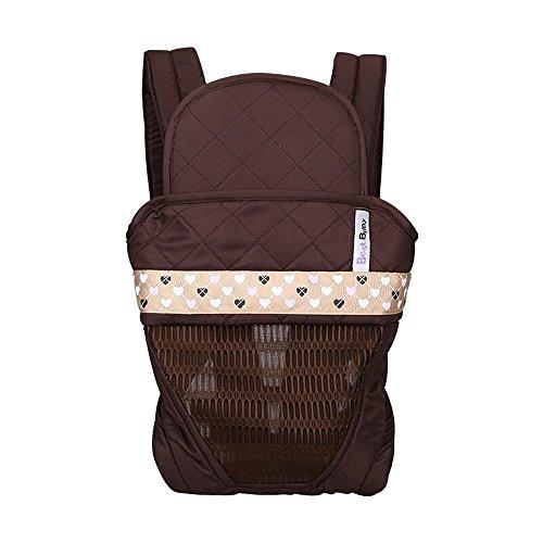 Baby Sling Neugeborenen Umarmung Baby Einfache Sling Vier Jahreszeiten Verfügbar Baby Single Hocker (3-48 Monate) A++ (Farbe   braun)
