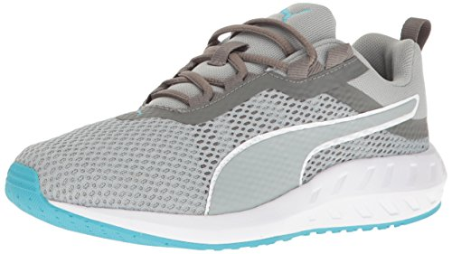PUMA Women's Flare 2 WN's Cross-Trainer Shoe, Quiet Shade-Quarry-Blue Atoll, 10 M (Solas Flare)