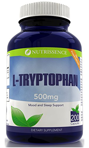 L Tryptophan 500mg 200 Capsules servings