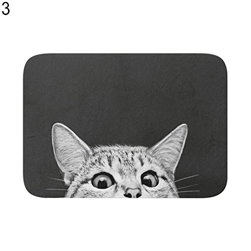 yanQxIzbiu Super Soft Indoor Rugs Living Room Carpets Cute Otter Cat Geometric Patterns Anti-Slip Bathroom Floor Mat Home Rugs Decor - 3#