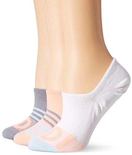 adidas Women's Superlite Super No Show Socks (3 Pack), Onix Marl/Ice Blue/Sun Glow/White, One - Cushion Socks Show
