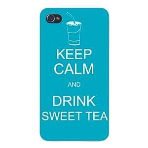 Apple Iphone Custom Case 5c White Plastic Snap on - Keep Calm and Drink Sweet Tea