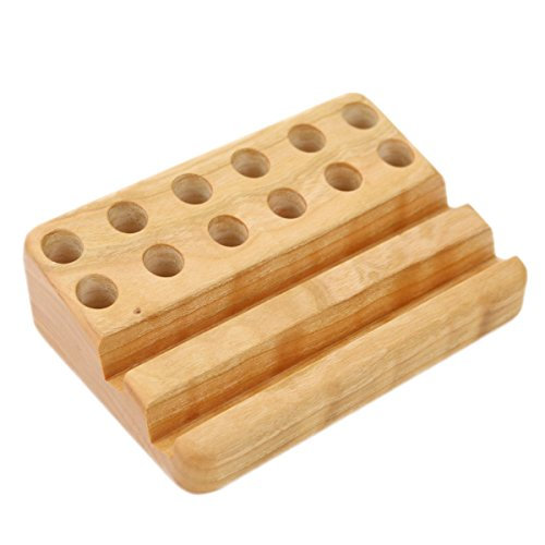 (Cherry Wood Crayon Holder, 12 block and 12 stick )