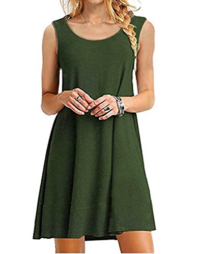GABREBI Sleeveless T Shirt Dresses Sundress product image