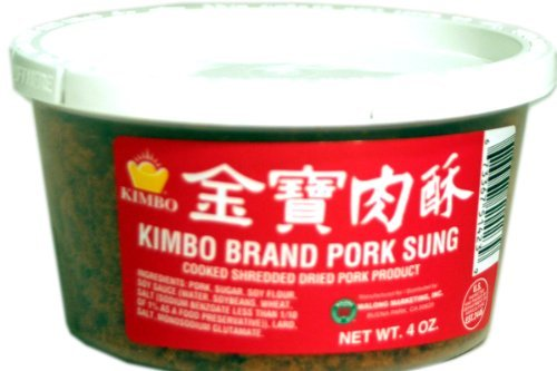 Pork Sung (Cooked Shredded Dried Pork) - 4oz [1 units] by Kimbo.