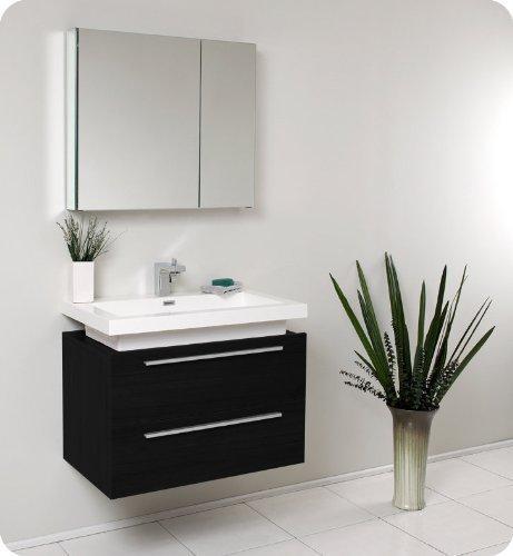 Medio Modern Bathroom Vanity with Medicine Cabinet by Fresca Bath